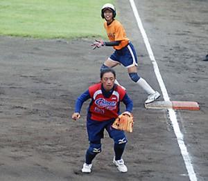 捕球,ソフトボール